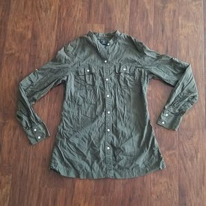 Lucky Brand Button Down Top Green {Large}